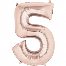 Number 5 Rose Gold Mini Air-Fill Foil Balloon